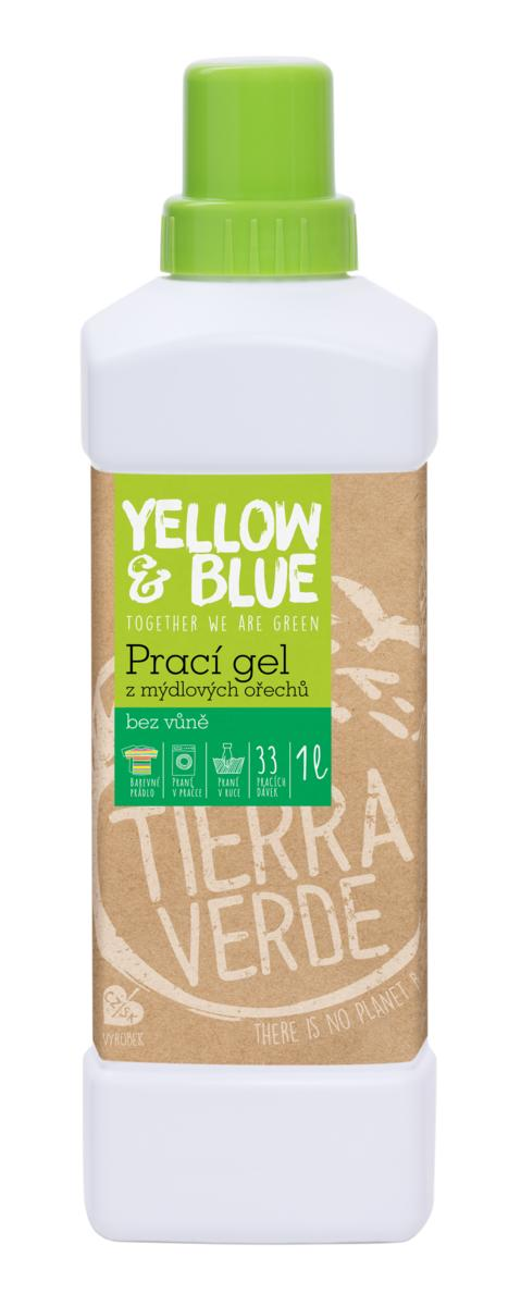 Yellow&Blue Prací gel bez vůně (lahev 1 l)
