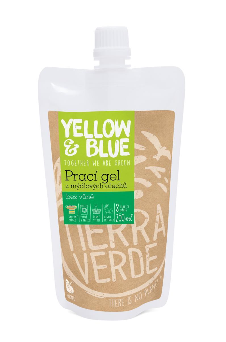 Yellow&Blue Prací gel bez vůně (sáček uzávěr 250 ml)