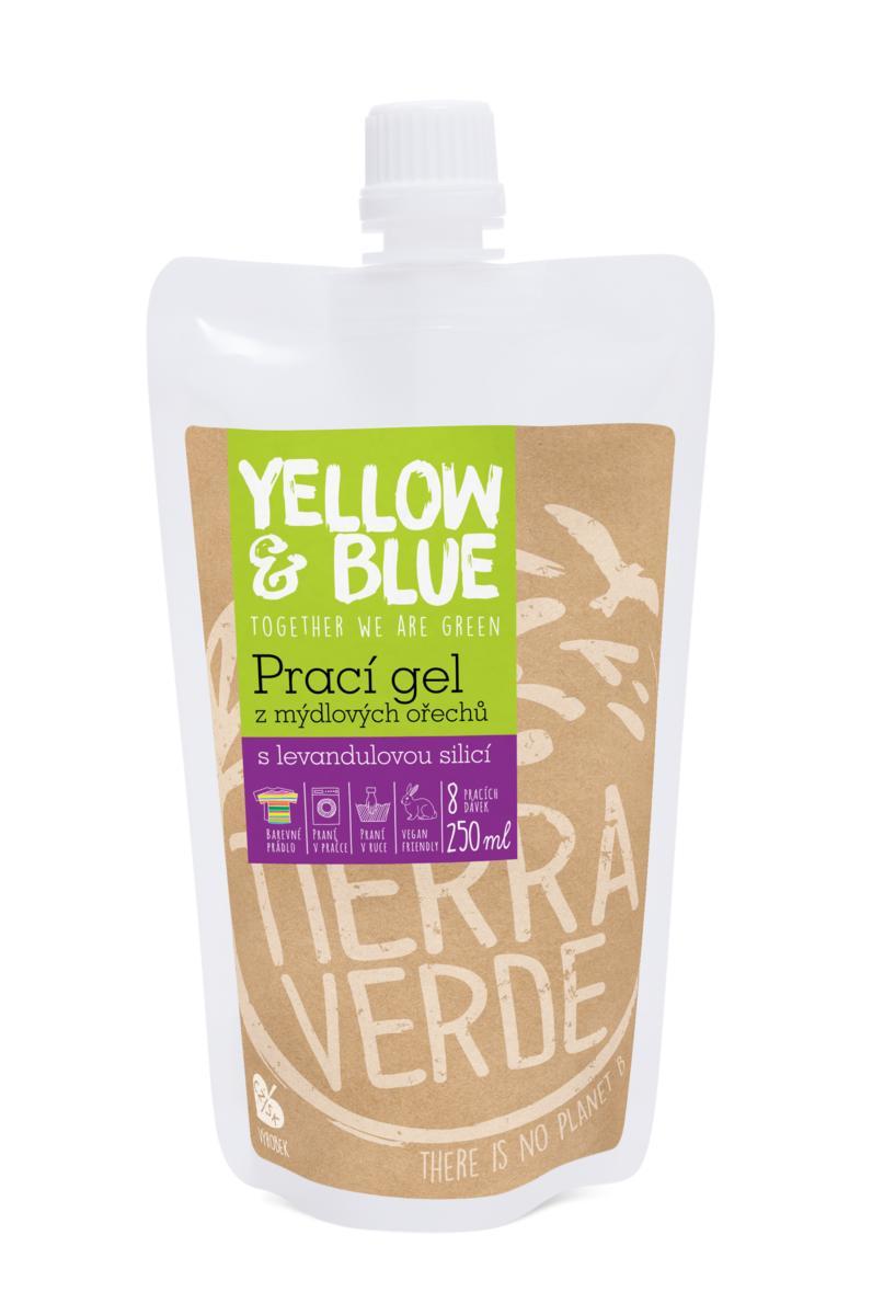 Yellow&Blue Prací gel levandule (sáček uzávěr 250 ml)