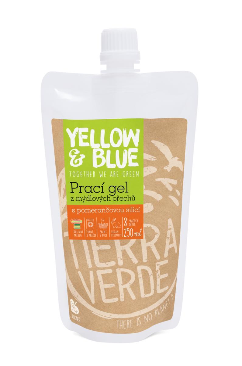Yellow&Blue Prací gel pomeranč (sáček uzávěr 250 ml)