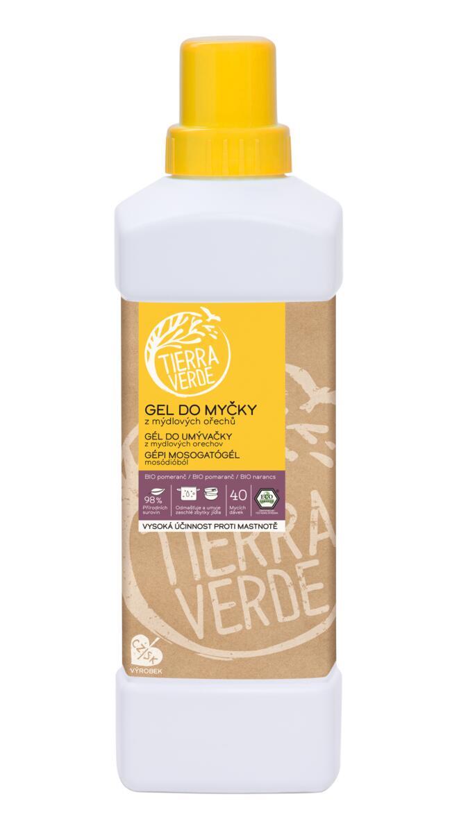 Tierra Verde – Gel do myčky BIO pomeranč, 1 l