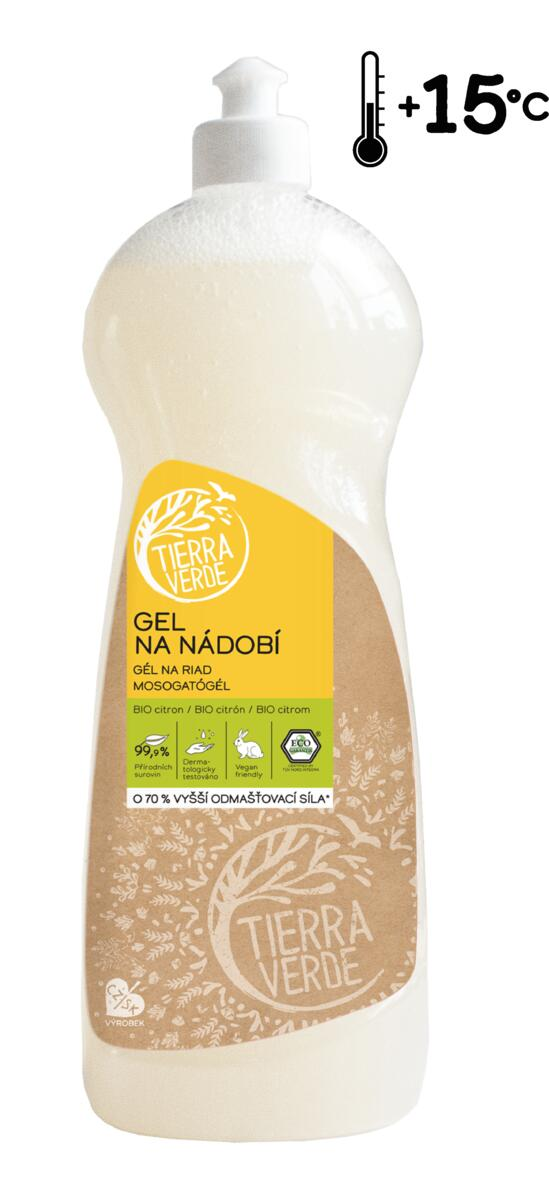 Tierra Verde – Gel na nádobí BIO citron, 1 l