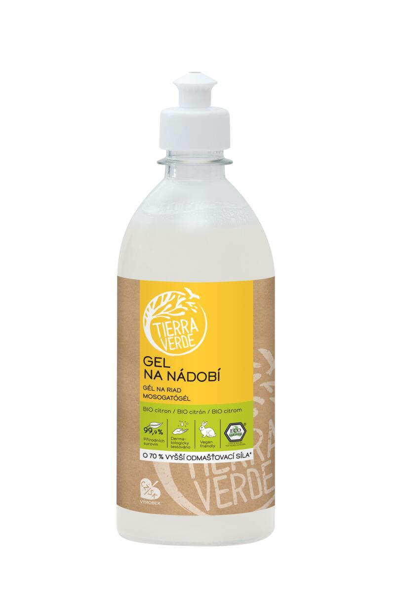 Tierra Verde – Gel na nádobí BIO citron, 500 ml