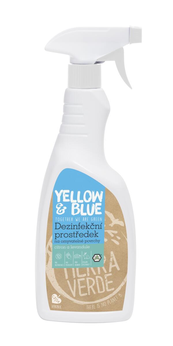 Tierra Verde – Dezinfekční prostředek na omyvatelné povrchy citron a levandule (Yellow & Blue), 750 ml