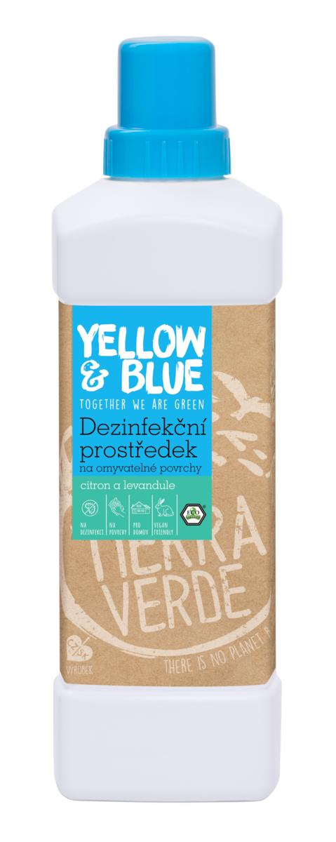Tierra Verde – Dezinfekční prostředek na omyvatelné povrchy citron a levandule (Yellow & Blue), 1 l