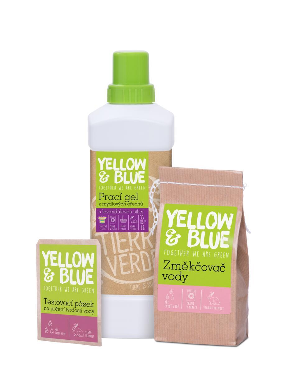 Tierra Verde – Multipack Prací gel levandule 1 l (Změkčovač vody 250 g + Testovací pásek ZDARMA)