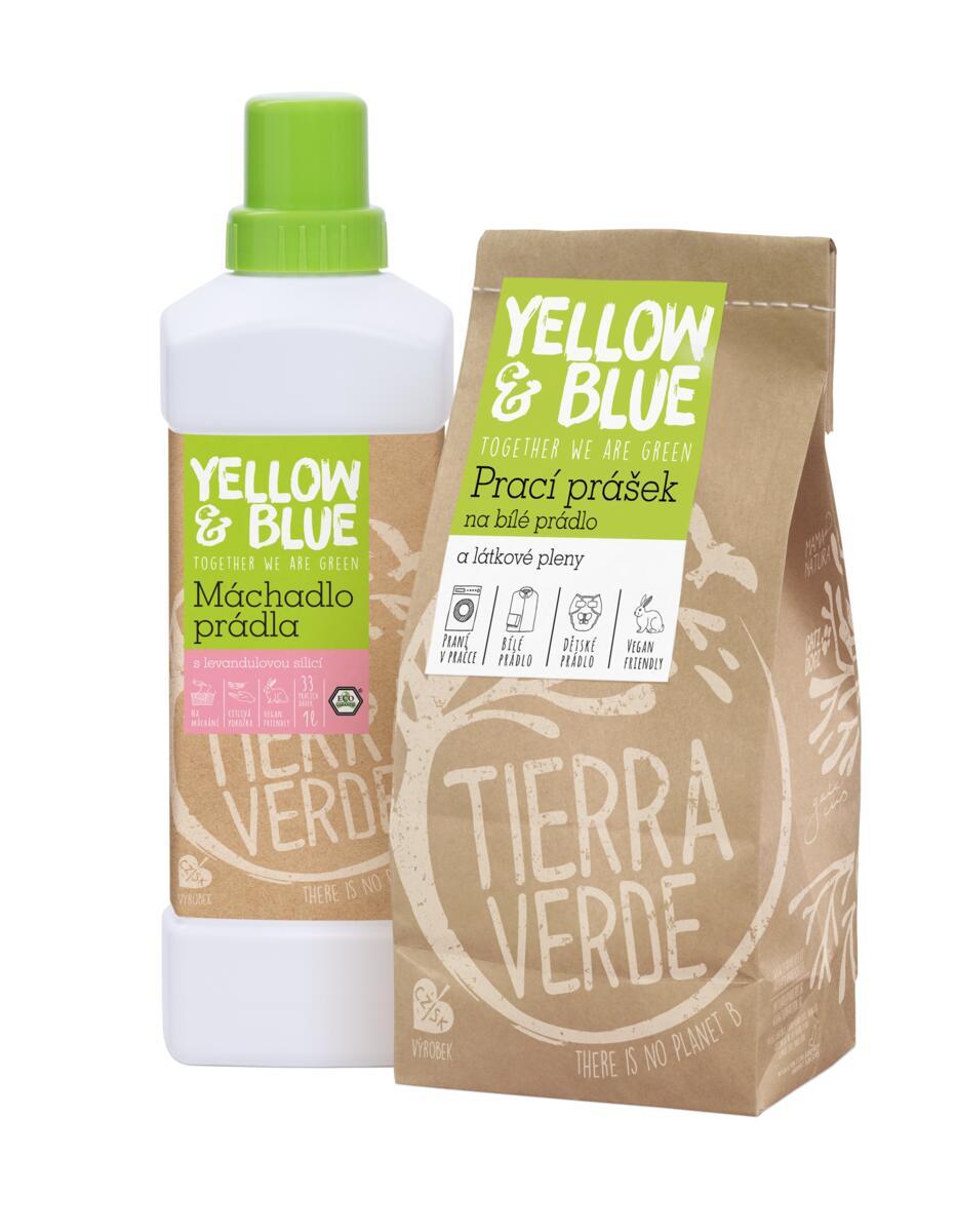 Tierra Verde – Multipack Prací prášek na bílé prádlo a pleny 850 g + Máchadlo prádla 1 l, 1 ks