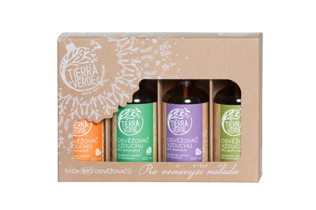 Tierra Verde – Sada BIO osvěžovačů – Pro voňavější náladu (krabička 4 ks), 4 ks