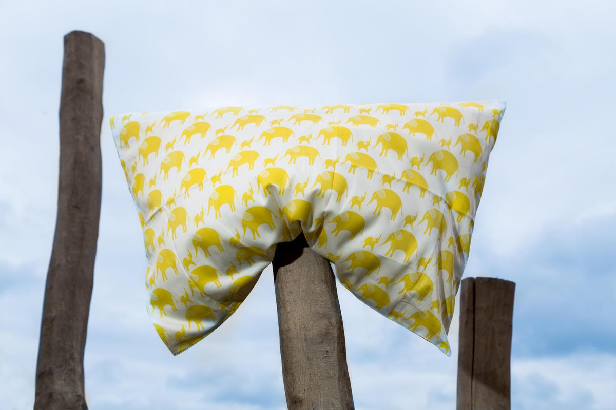 Tierra Verde Povlečení dětské – žlutý slon (135×100 + 60×40 cm)