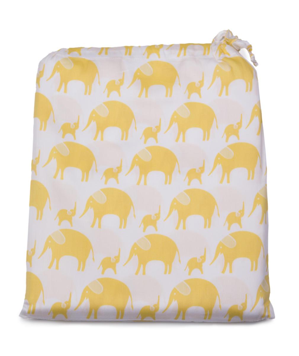 Tierra Verde Povlečení dětské žlutý slon 135×100 + 60×40 cm 1 ks
