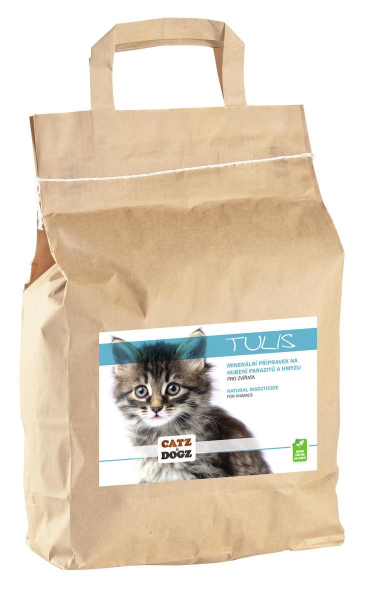 Catz&Dogz Tulis – čistění od parazitů a hmyzu (pap. pytel 3 kg)