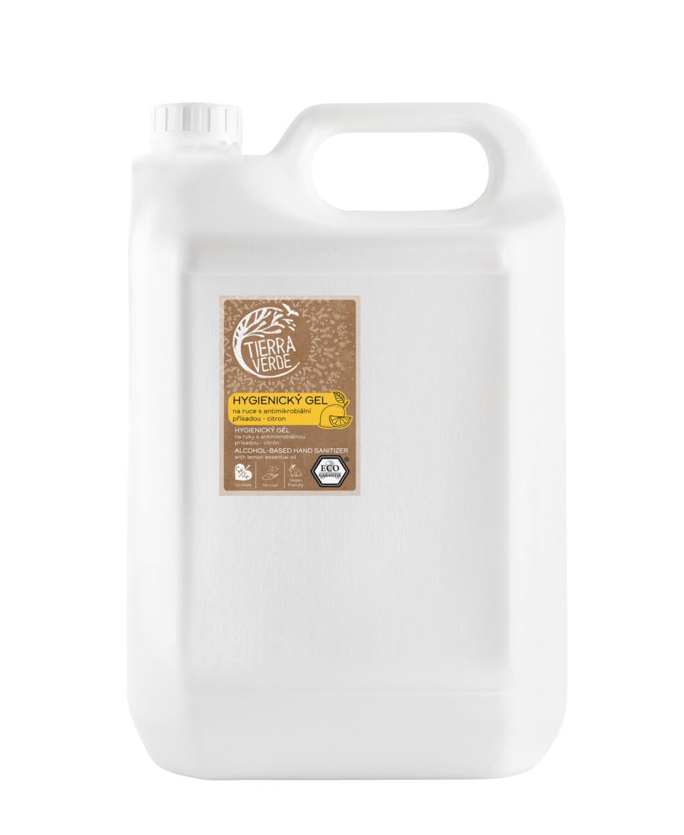 Tierra Verde – Hygienický gel na ruce citron, 5 l
