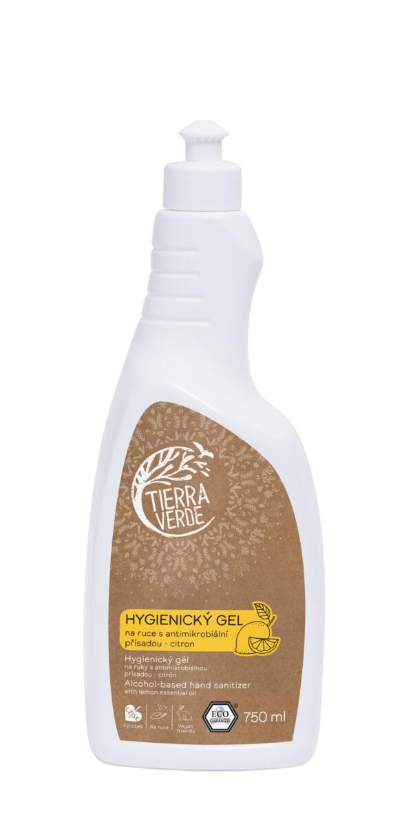 Tierra Verde – Hygienický gel na ruce citron, 750 ml