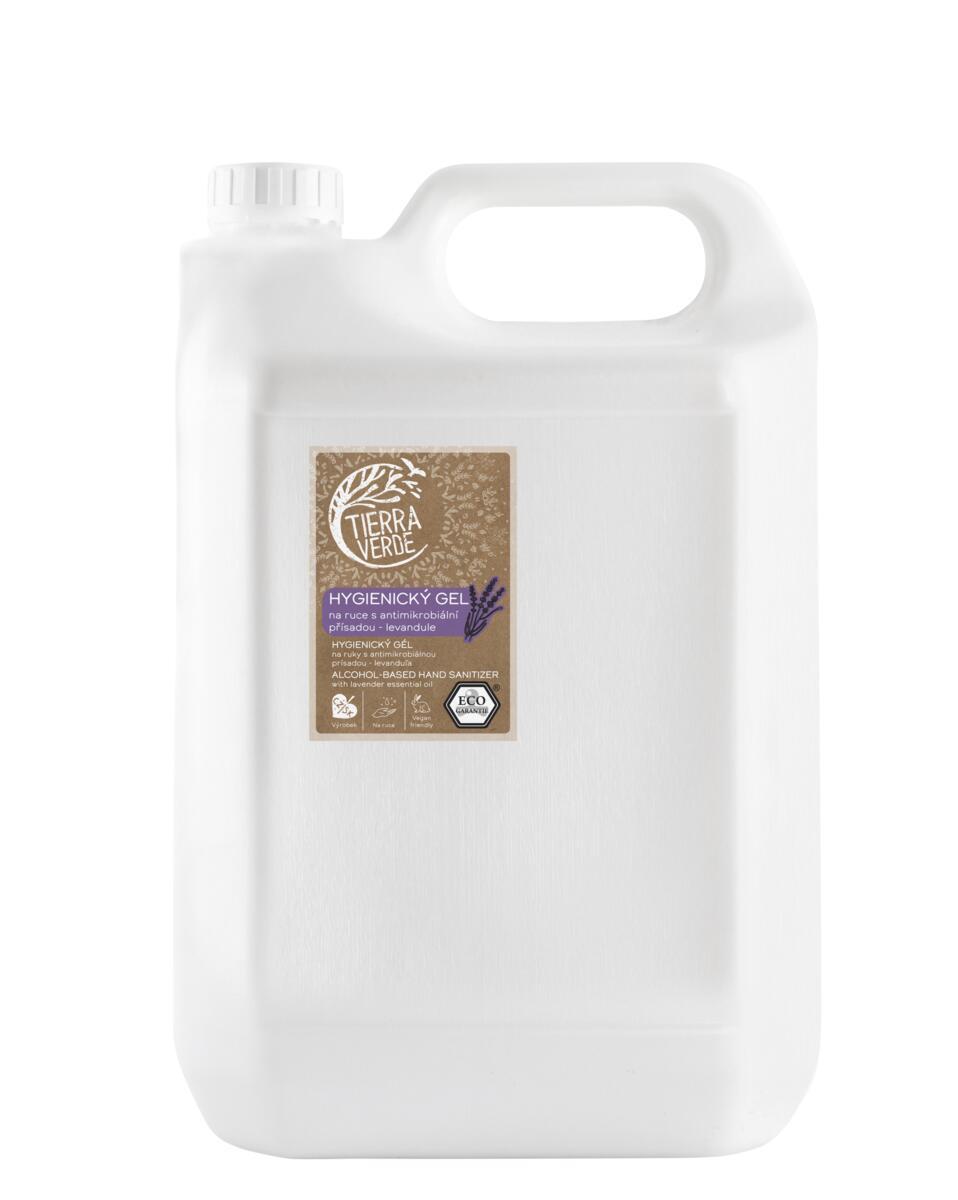 Tierra Verde – Hygienický gel na ruce levandule, 5 l