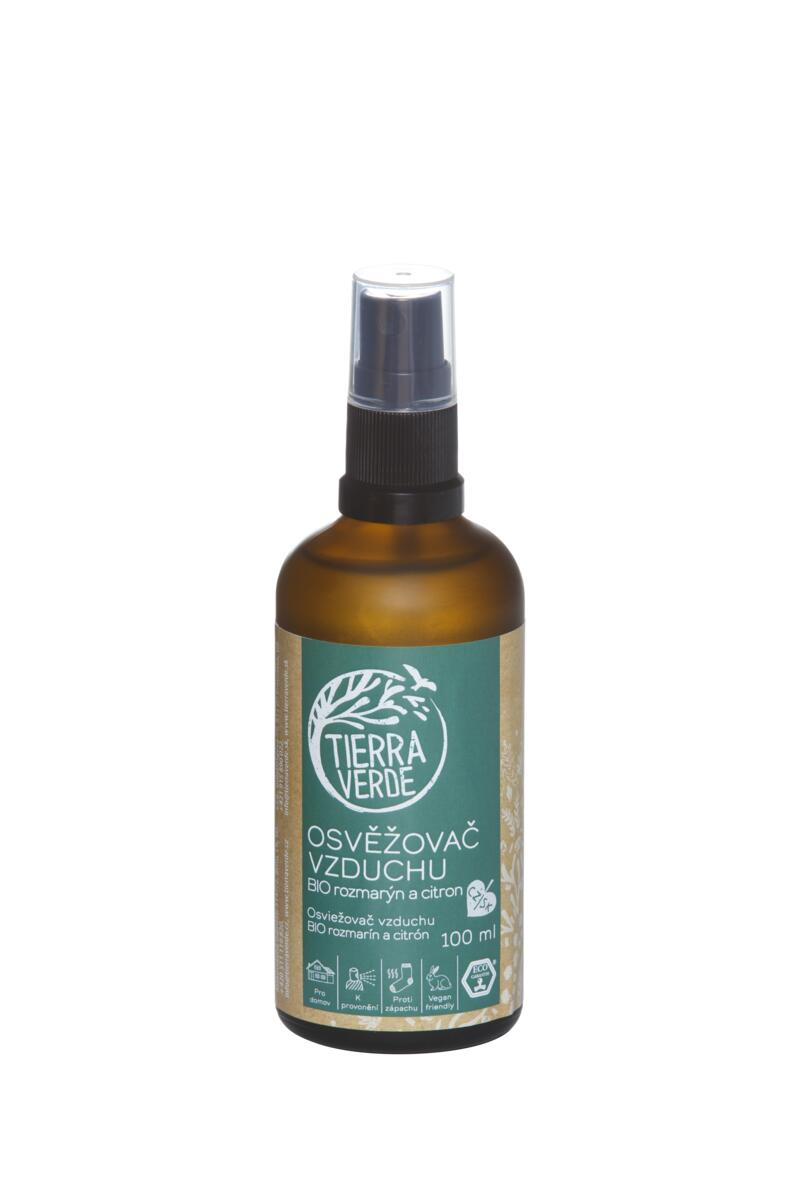 Tierra Verde Osvěžovač vzduchu – BIO rozmarýn a citron (lahvička 100 ml)