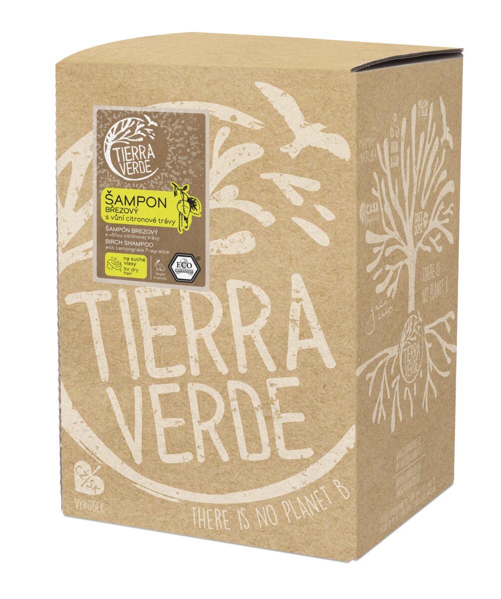 Tierra Verde – Šampon březový svůní citronové trávy, 5 l