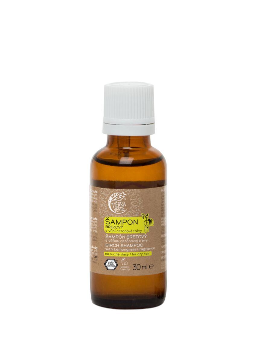 Tierra Verde – Šampon březový svůní citronové trávy, 30 ml