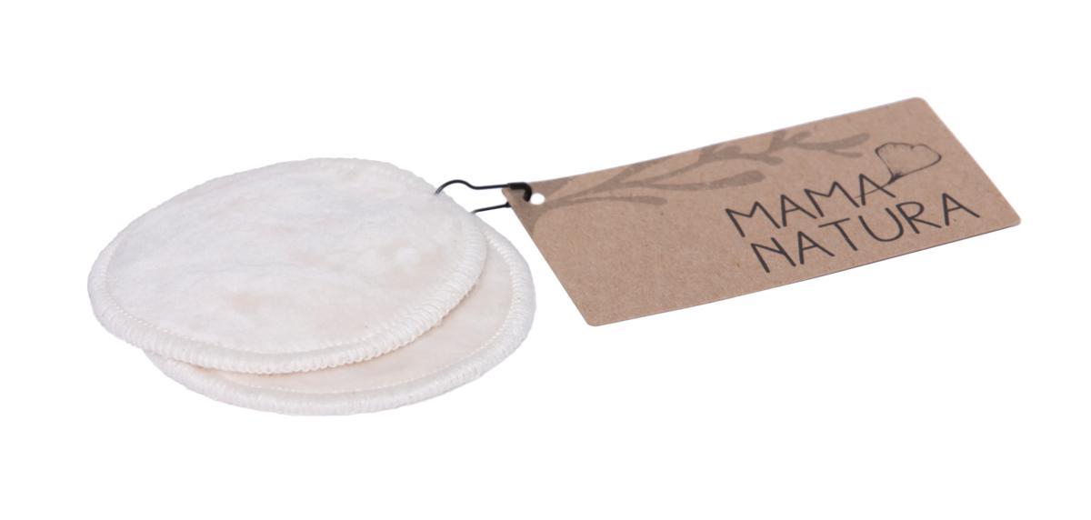Mama natura kosmetický tampon pratelný z biobavlněného sametu malý 7 cm 2 ks