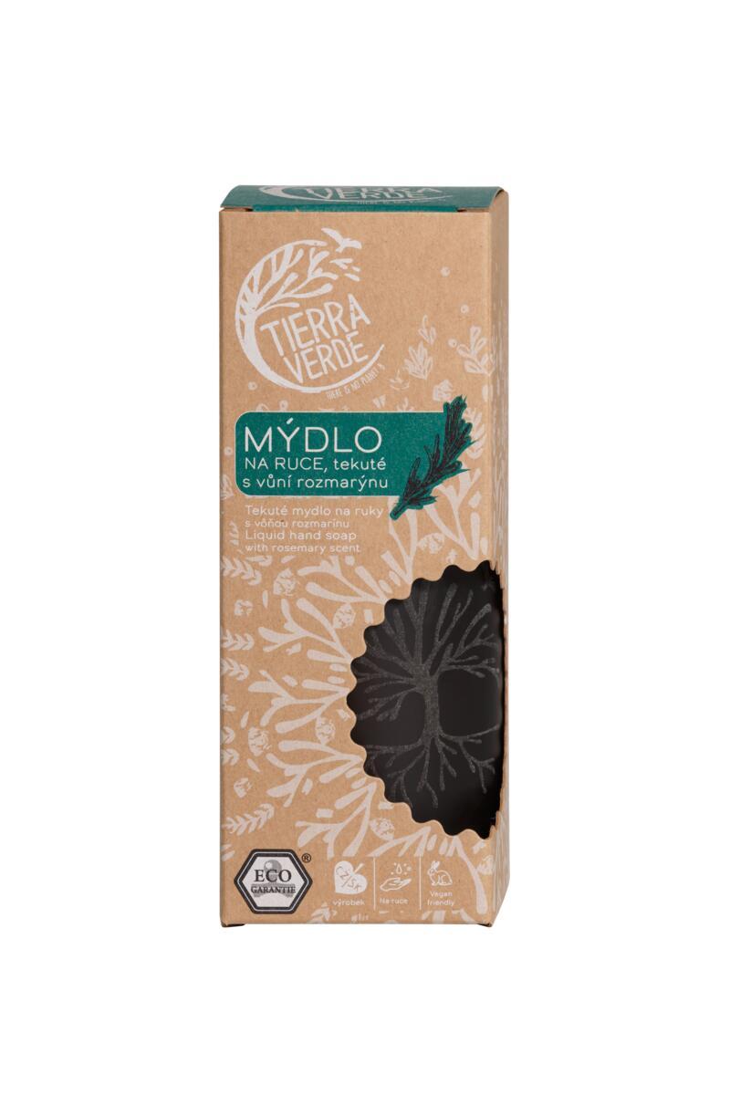 Tierra Verde – Tekuté mýdlo na ruce – rozmarýn, 230 ml