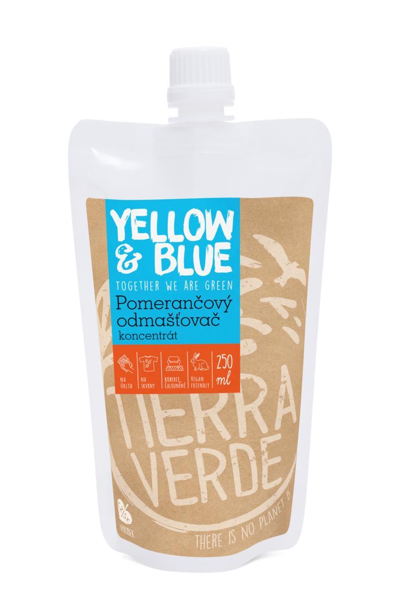 Yellow&Blue Pomerančový odmašťovač – koncentrát (sáček uzávěr 250 ml)