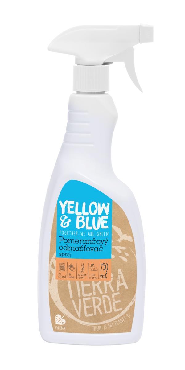 Yellow&Blue Pomerančový odmašťovač – sprej (rozprašovač 750 ml)