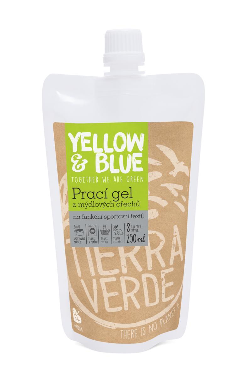Yellow&Blue Prací gel sport (sáček uzávěr 250 ml)